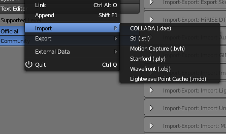 Importers and Exporters — Blender Developers Blog