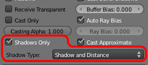 New UI panel to select shadow type.