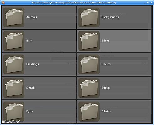 Blender Addon: folders