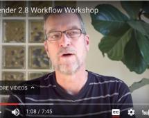 Blender 2.8 Workflow Workshop Video