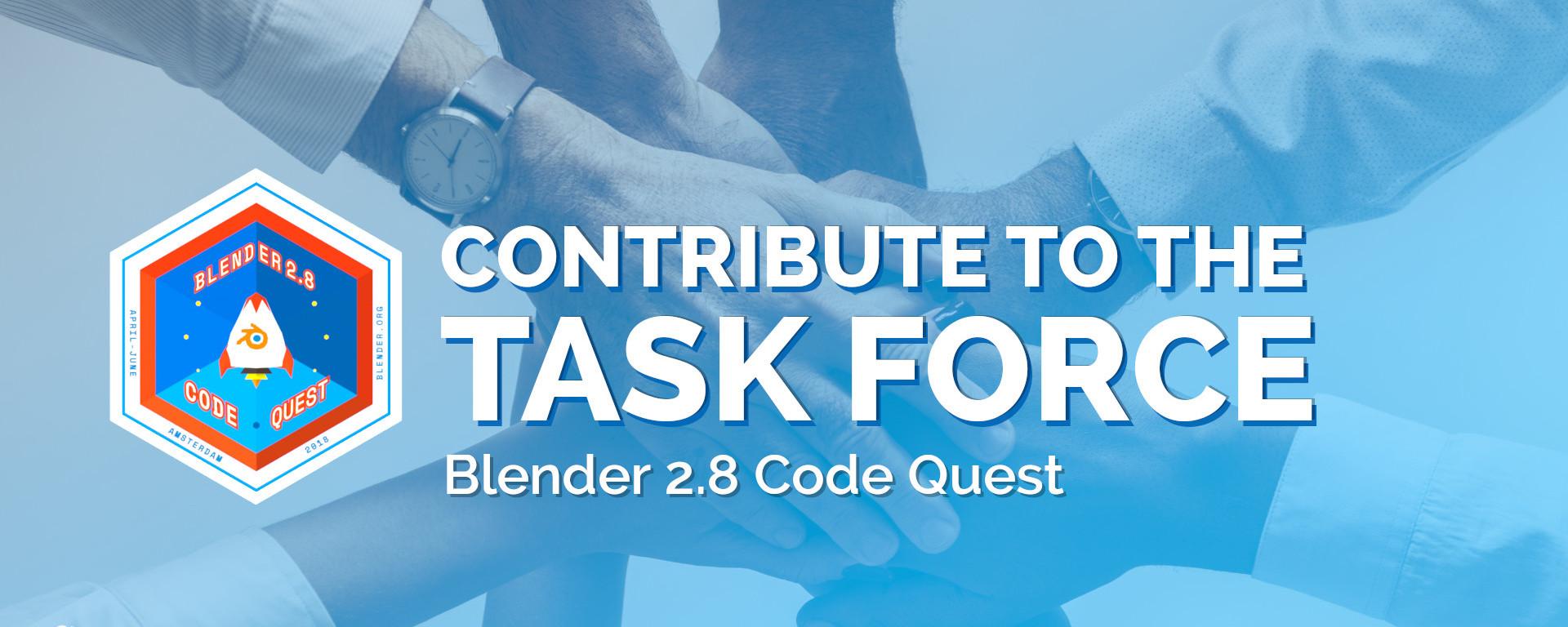 Blender 2.8 Task Force