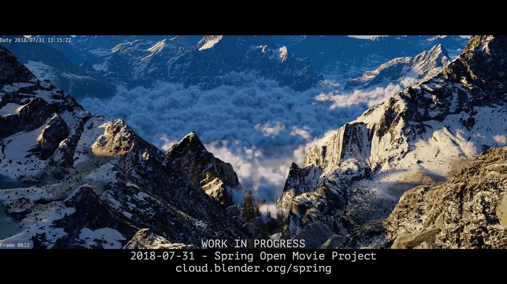 Frame from Spring rendered in Blender 2.8 by the Blender Animation Studio