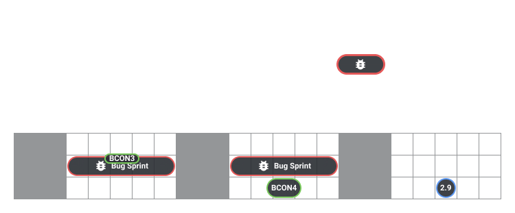 Alternative bug sprints planning for 2.90 for few developers, 20-31 July