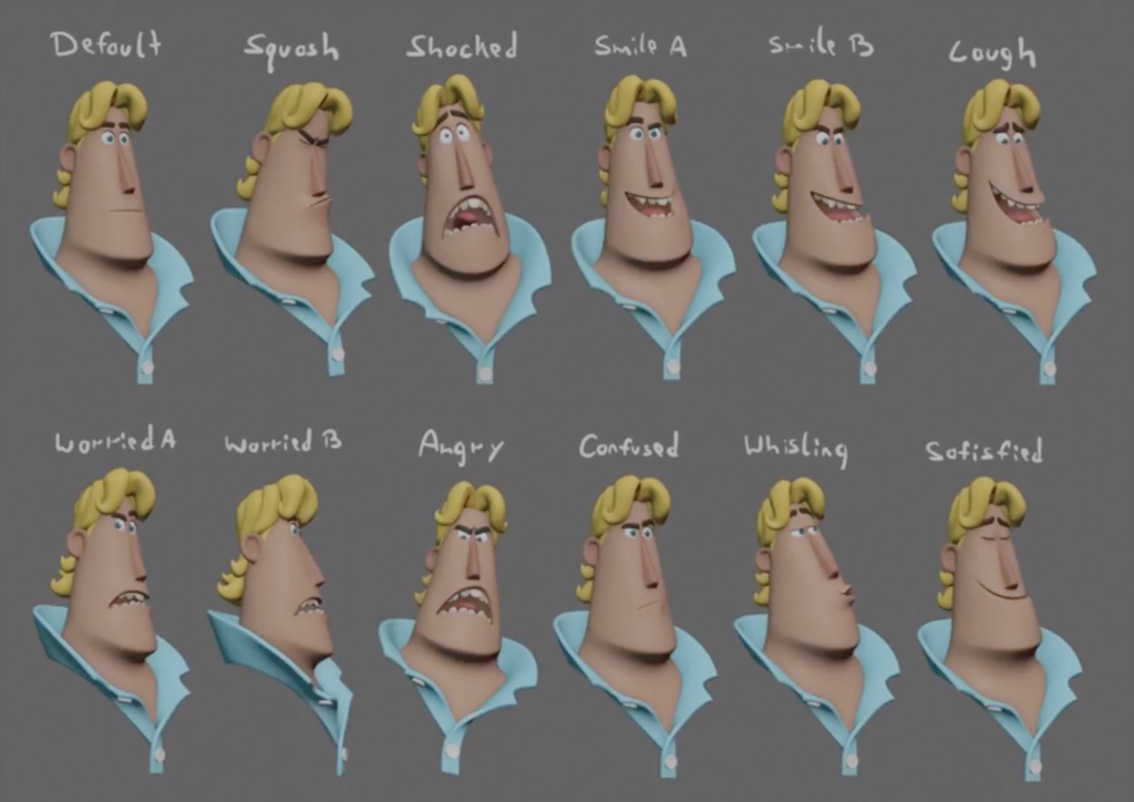 Rex facial expression tests - Sprites Fright