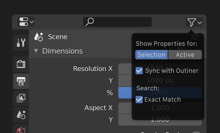 Blender interface mockup