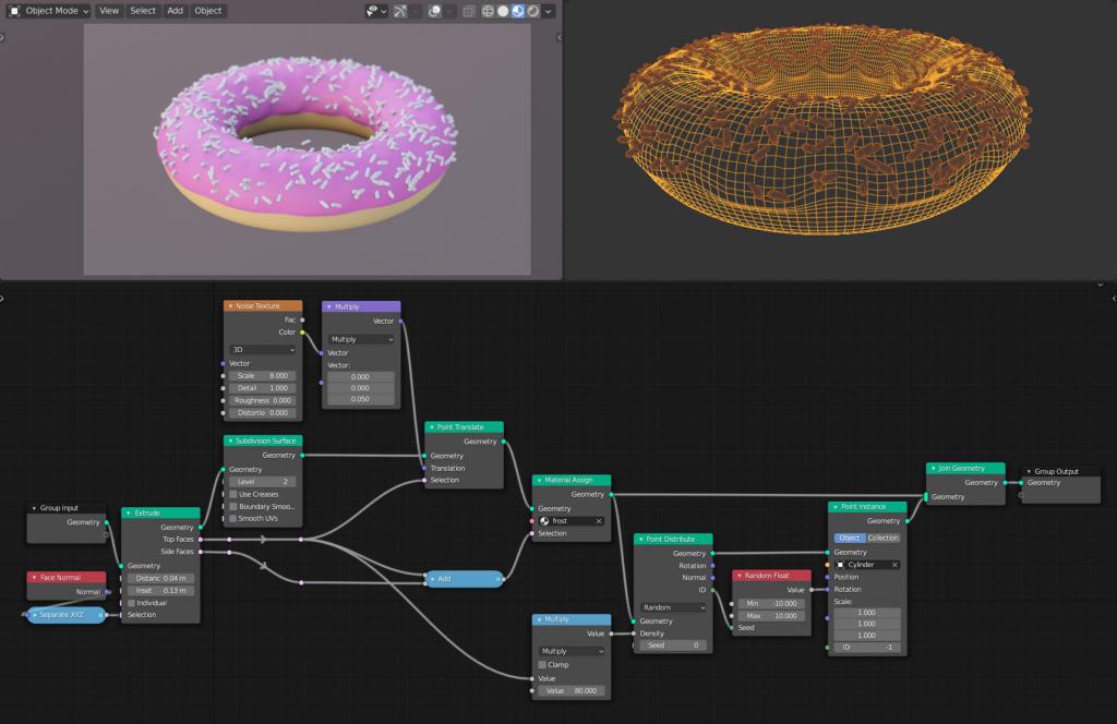 Geometry Nodes Fields doughnut